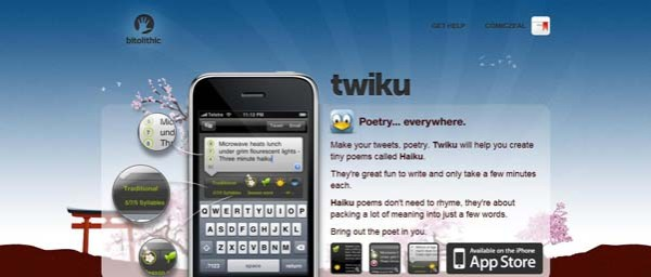 Bitolithic+ +Twiku Best Examples of iPhone Apps Websites Designs