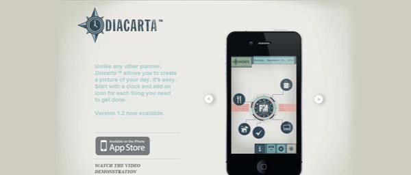 Diacarta Best Examples of iPhone Apps Websites Designs