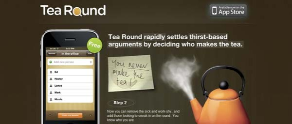 Tea+Round+App Best Examples of iPhone Apps Websites Designs