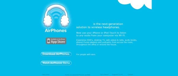 AirPhones Best Examples of iPhone Apps Websites Designs