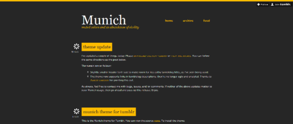 Munich The Best Free Tumblr Themes