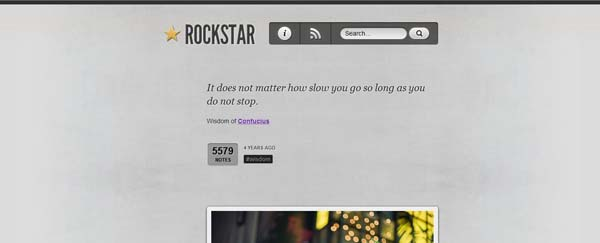 Rockstar The Best Free Tumblr Themes