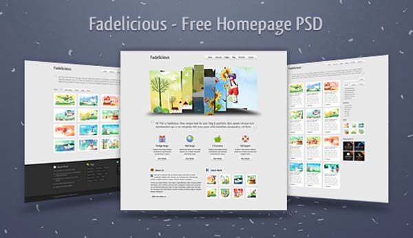 Fadelicious+%25E2%2580%2593+Free+Homepage+PSD 80+ Free Editable PSD Website Templates