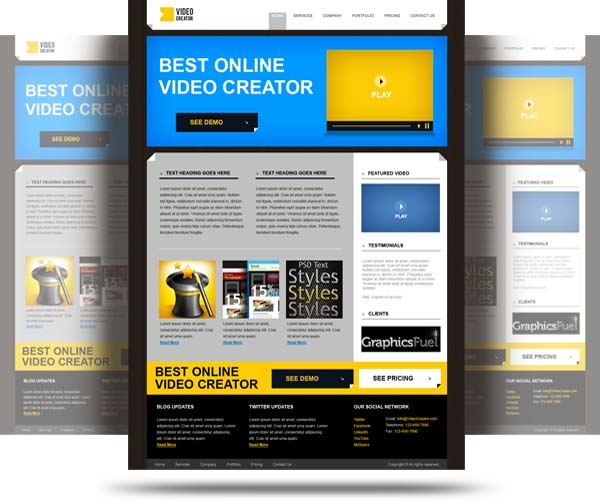 Product+website+PSD+template 80+ Free Editable PSD Website Templates