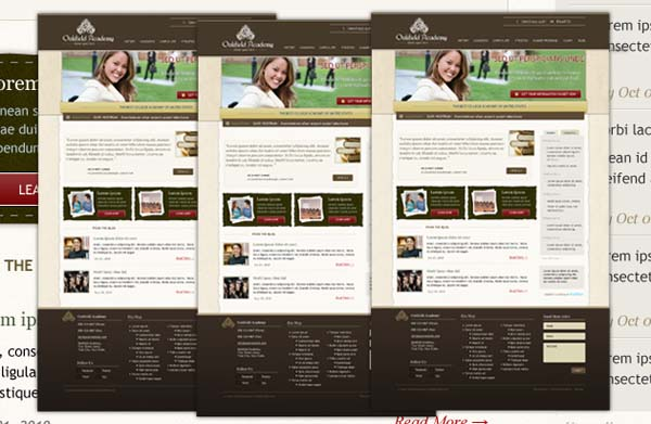 Oakfield+Academy+Free+PSD+School+Template 80+ Free Editable PSD Website Templates