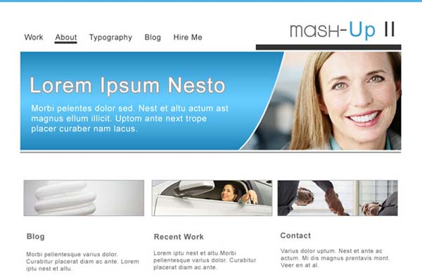 Mash Up+II+Free+PSD+Business+Template 80+ Free Editable PSD Website Templates