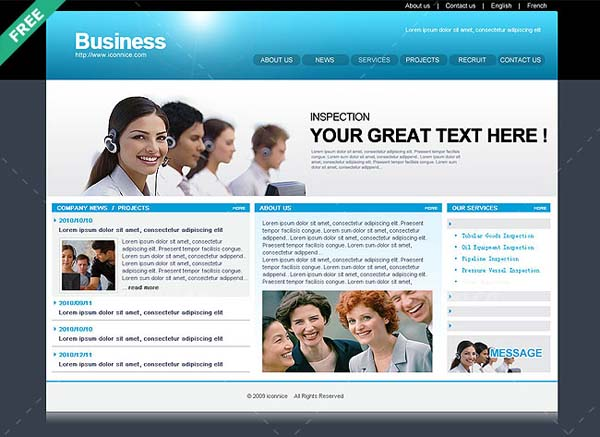 Blue+Business+web+template 80+ Free Editable PSD Website Templates