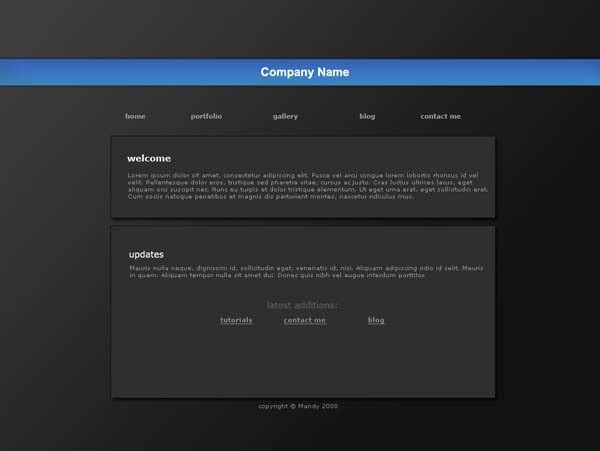 Portfolio template PSD by xmandypandyx 80+ Free Editable PSD Website Templates