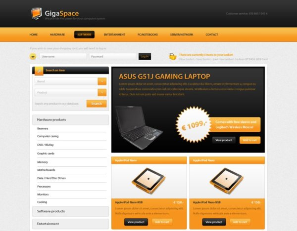 gigaspace free psd webshop by gerbengeeraerts d30xjhj 80+ Free Editable PSD Website Templates