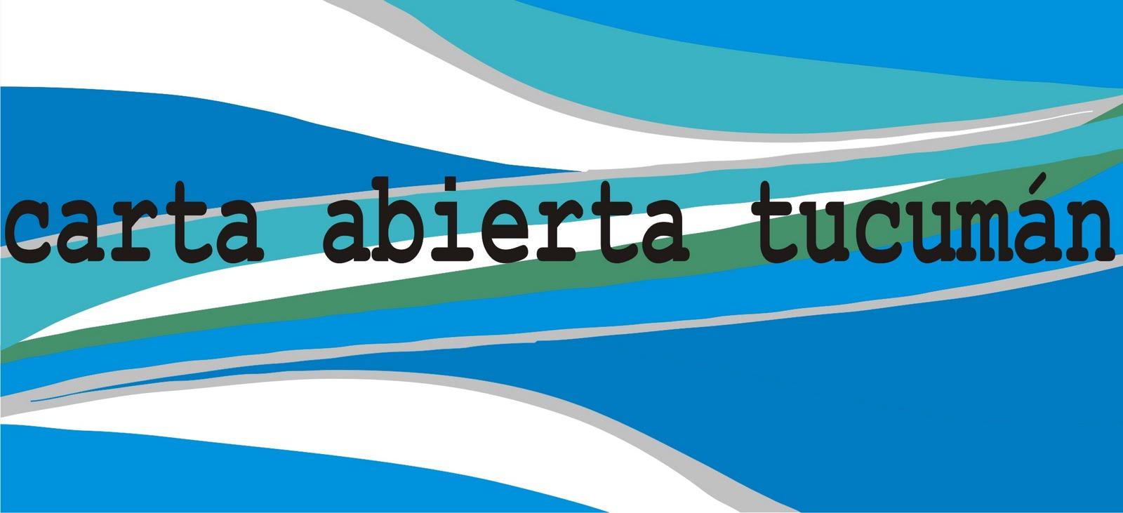 Carta Abierta Tucumán 2011