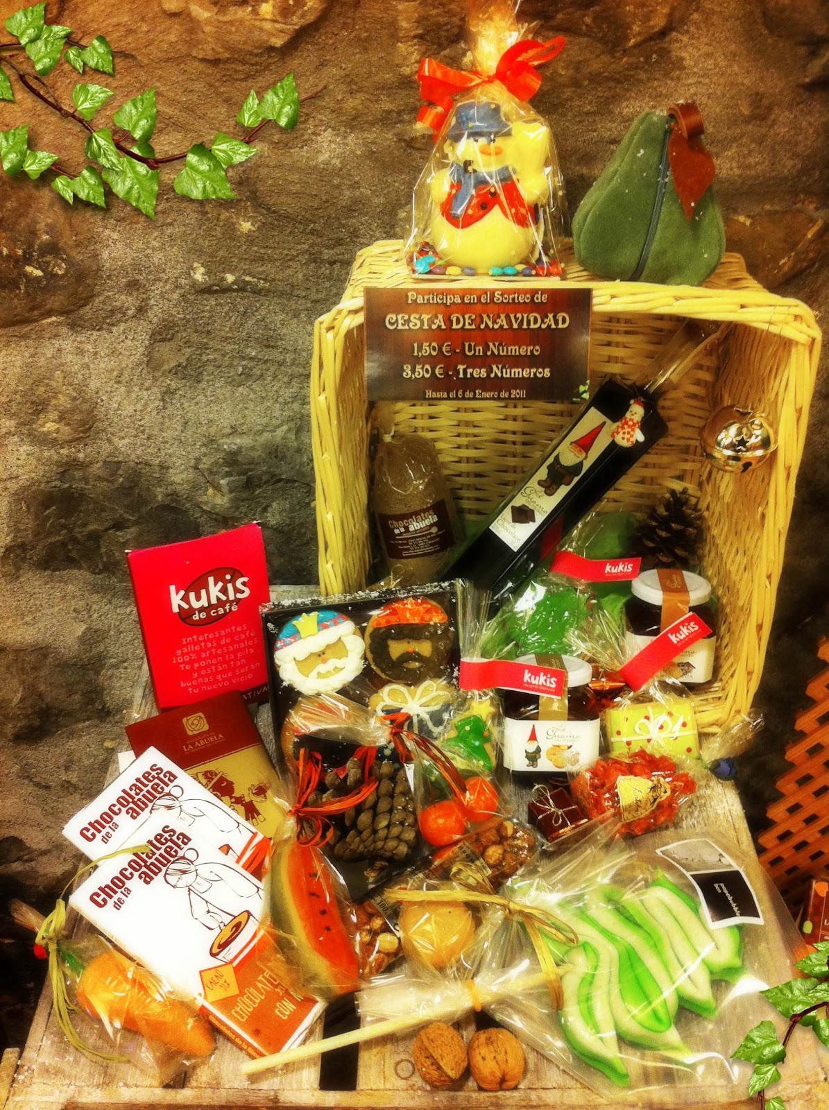 El duende del chocolate cesta de navidad de el duende for Cesta arbol navidad