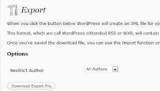 export form from wordpress