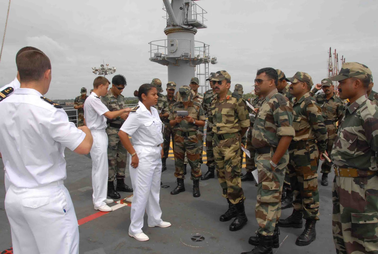 Pix2 ... Naval Ship Tonnerre which is presently berthed at Kochi on 9th June.