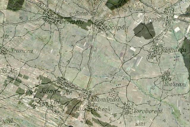 Harta cimpiei Blahnita la Rogova