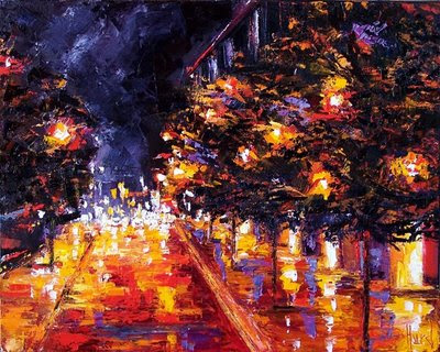 "Thanks for checking out this painting ---- Title is "" Colorful Night """