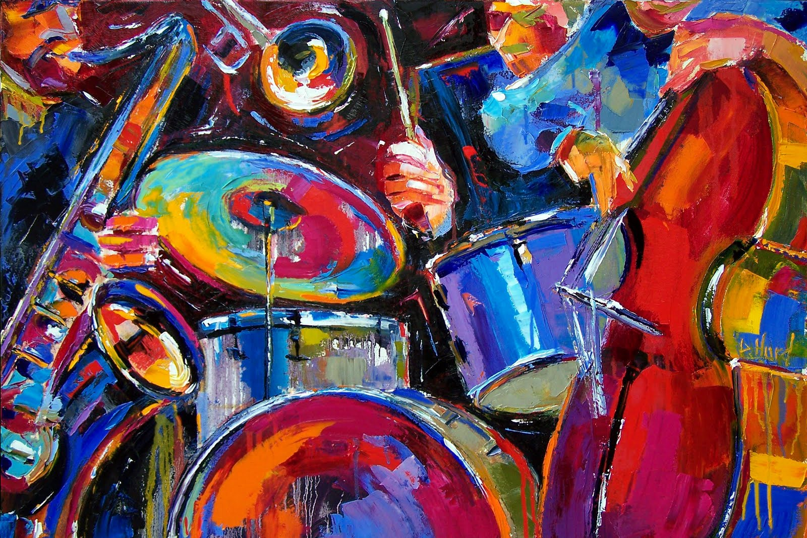 Debra Hurd Original Paintings AND Jazz Art: Jazz Art music ...