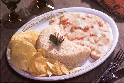 strogonof 4 queijos com camarão