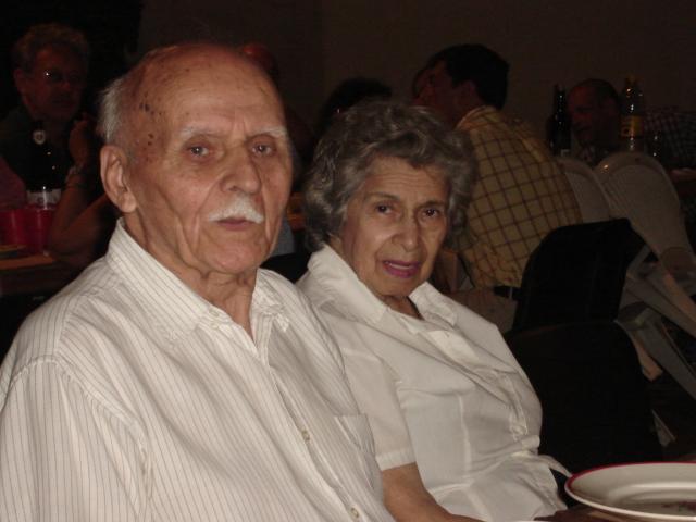 Honorio Yuber y su esposa