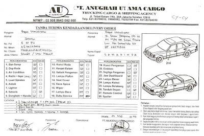 ... Mobil: CONTOH BERITA ACARA SERAH TERIMA KENDARAAN / SURAT JALAN