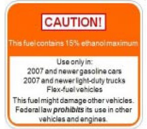 ethanol label caution warning