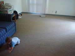 Hayden in our very empty living room