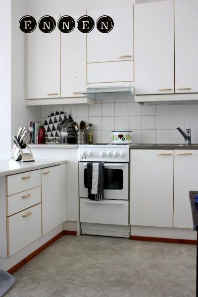 likainen parketti  uusi keittiö