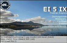 EI5IX EQSL CARD