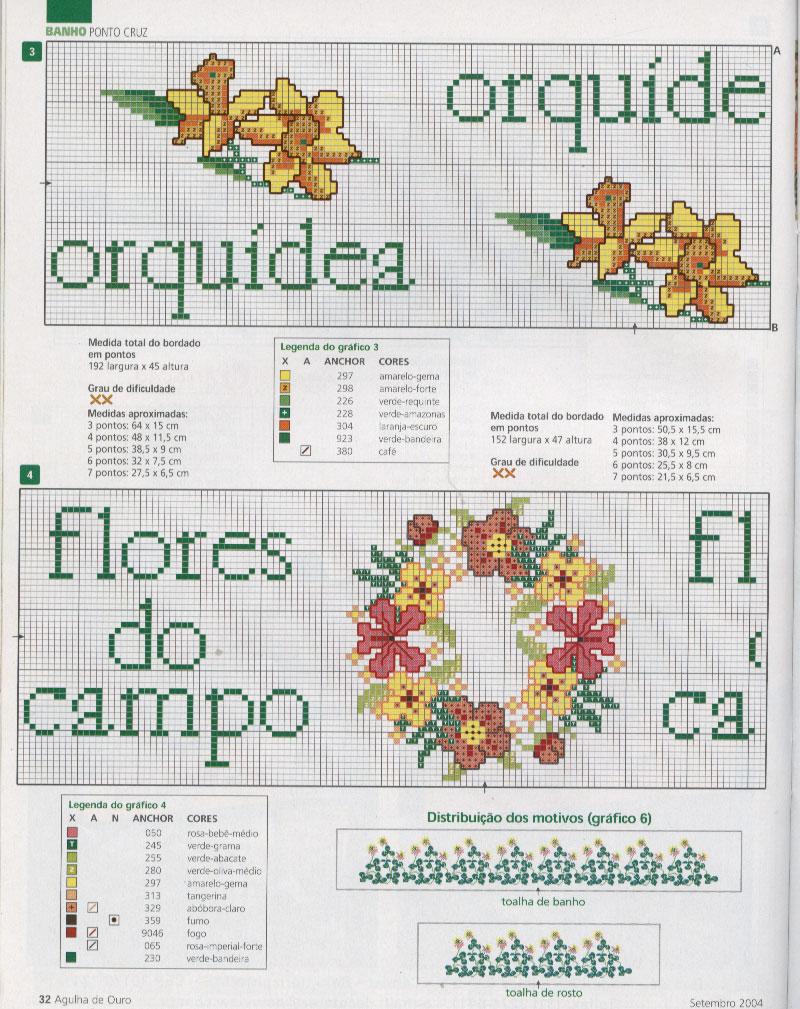 ORQUÍDEAS, GIRASSÓIS EM PONTO CRUZ. Posted by Picasa. Postado por CROCHÊ E BORDADOS às 0715