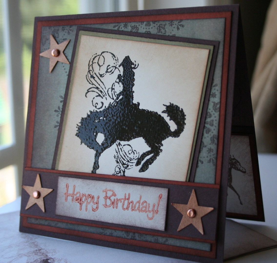 HAPPY BIRTHDAY Bronc Buster Wanted Card For A Teenage Boy