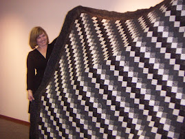 Black and White Strippy Quilt