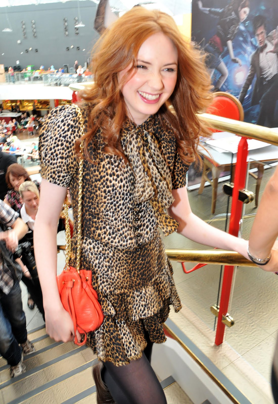 Karen Gillan In Black Nylons