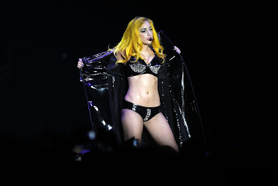 Lady Gaga In Latex & Fishnets