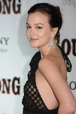 Leighton Meester In A See-Thru Dress