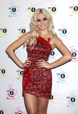 Pixie Lott In A Red Minidress