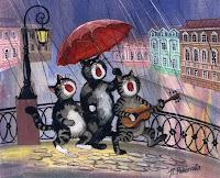 Illustration of cats