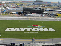 Looking across the Daytona International Speedway