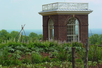 Thomas Jefferson's pavilion in the Monticello vegetable garden