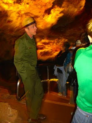 Park ranger at Wind Cave National Park. Photo by Chas S. Clifton.
