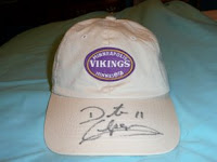 Vikings quarterback Dante Culpepper autographed hat