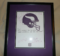 Minnesota Vikings player autographs