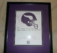 Minnesota Vikings player autographs
