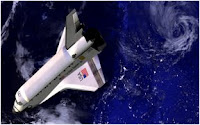 Shuttle in space