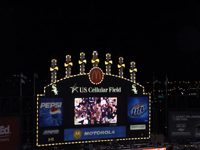 U.S. Cellular Field scoreboard homerun lights