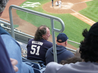 Man with mullet at Yankee Stadium
