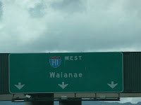 Hawaii interstate road sign