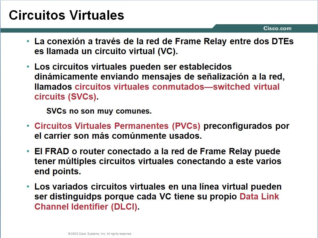 Circuito Virtual : Circuitos dedicados vlan capa
