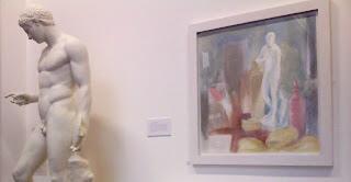 Janet Boulton, 'Aphrodite with Beehive & Sickle' (Little Sparta Temple interior), at Edinburgh College of Art, Sculpture Court, 30vii09