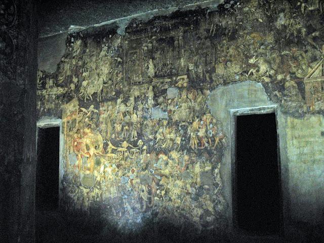 Ajanta mural inside cave