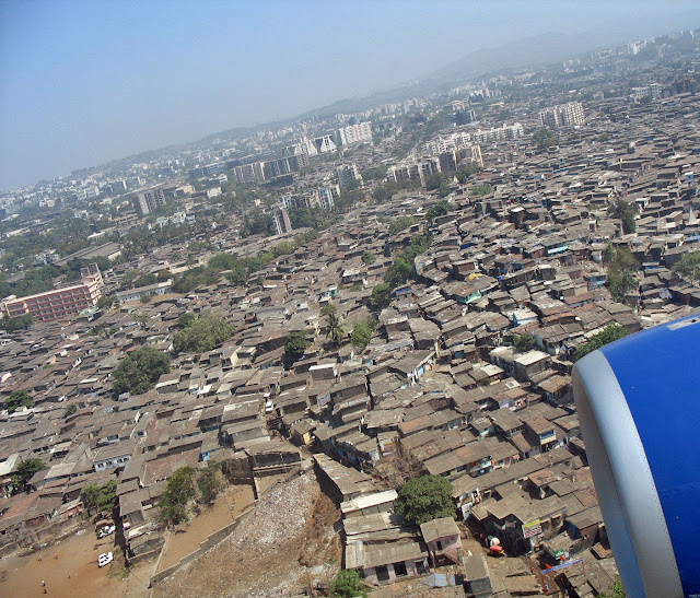 view of Dharavi from air