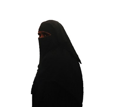 cutout of burkha clad woman